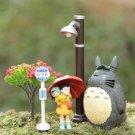 Totoro Umbrella Satsuki Mei Street Lamp Bus Station Tree PVC Action Figure Classic Toys