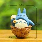 Walnut Blue Totoro Action Figure Toys Micro Landscape