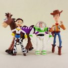 4pcs/lot Cosplay The Toy Story 3 Buzz Lightyear Woody Jessie Bullseye PVC Action Figure