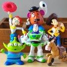 6pcs/lot Toy Story 3 Sheriff Woody Pride Jessie Mr. Potato Head Buzz Lightyear Aliens
