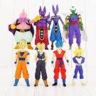 8pcs/lot Dragon Ball Z Goku Beerus Champa Buu Vegeta Trunks Piccolo Gokou