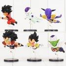 6pcs/lot Dragon Ball Z Flying Son Goku Vegeta Piccolo Frieza Raditz Figure Toy