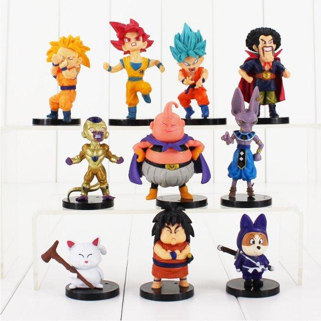 10pcs/lot 4-9cm Dragon Ball Z Figure Toy Goku Vegeta Super Saiyan (Style A)