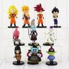 10pcs/lot 4-9cm Dragon Ball Z Figure Toy Goku Vegeta Hercule Frieza Buu Beerus (Style B)