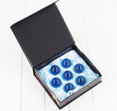 4cm Dragon Ball Z 7 Stars Dragonball Blue Clear Balls Complete Set