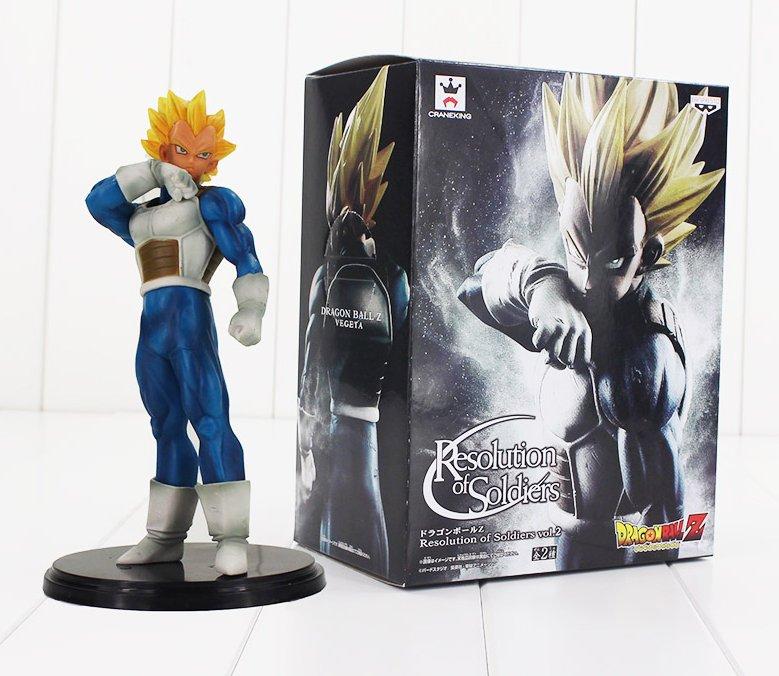 Dragon Ball Z Resolution of Soldiers Figure Toy Vegeta Super Saiyan Anime with box