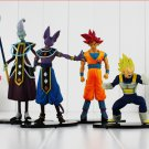 4pcs/lot Anime Dragon Ball Battle Of Gods Theater Version Super Saiyan