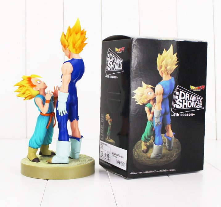 21cm Anime Dragon Ball Z Figure Set Dramatic Showcase Vegeta Trunks with box