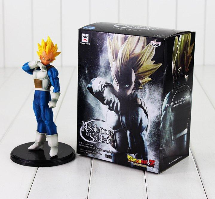 20cm Anime Dragon Ball Z Figure Toy Vegeta Banpresto Cool Model Doll (box)