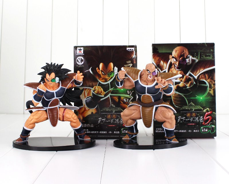 2pcs/lot 15cm Dragon Ball Z Figure Toy Nappa Raditz Goku Brother Saiyan Scultures Big Zokei (box)