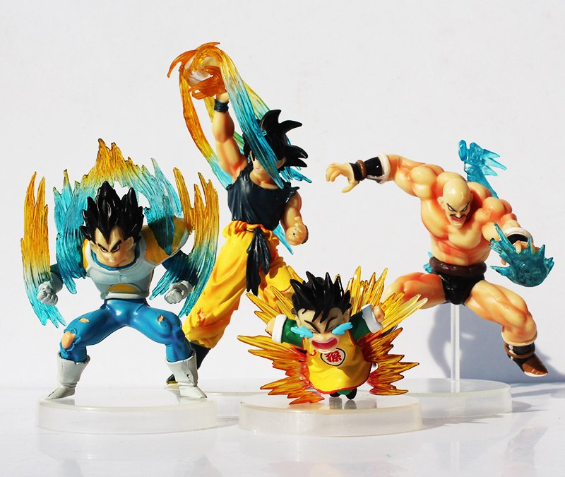 4pcs/set 7-12cm Dragon Ball Goku Super Saiyan Vegeta