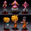 6pcs/set Japanese Anime Dragon Ball Z Majin Buu Gotenks Saiyan Son Goku
