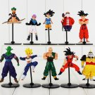 10pcs/lot Dragon Ball Z GT Figure Toy Goku Vegeta Goten Cell Frieza Piccolo Master Roshi (A)