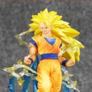 17cm Anime Dragon Ball Z Figuarts Zero Super Saiyan 3 Yellow hair Son Goku
