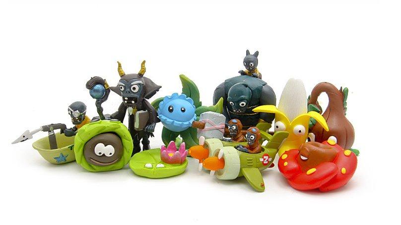 Plants vs Zombies 3 Figure Toy Plants and Zombies PVC Action Figures 10pcs/lot 2-7cm