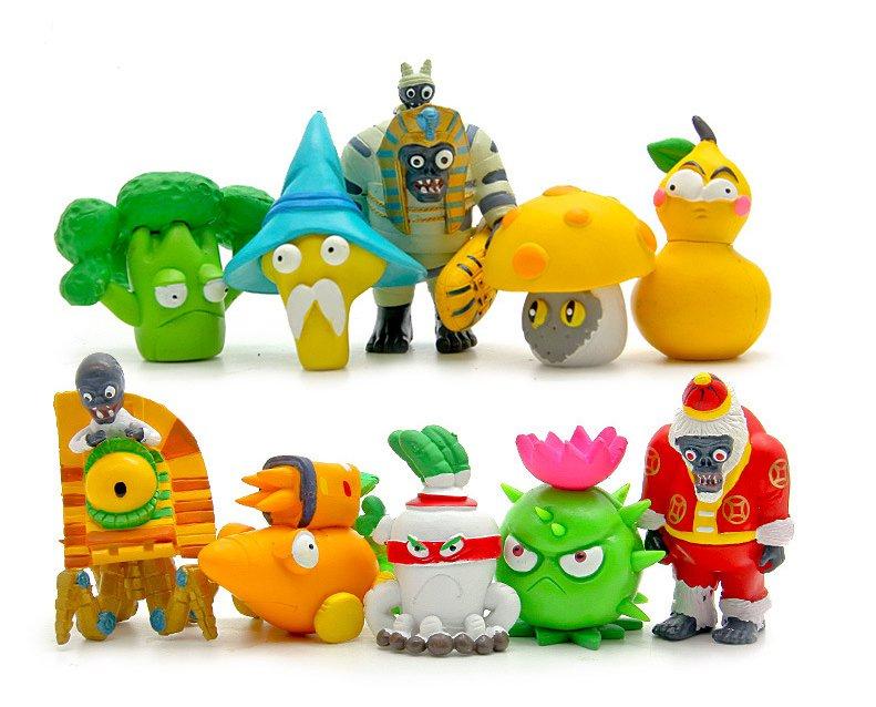 10pcs/lot PVZ Plants vs Zombies 2 It's About Time PVC Action Figures Toys