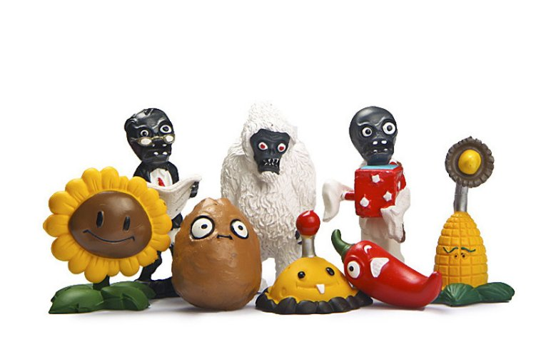8pcs/lot Plants vs Zombies PVC Action Figure SunFlower Potato Mine Jalapeno Zombie Yeti