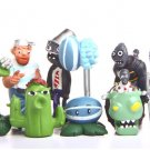 8pcs/lot Plants vs Zombies Figures Toys PVZ Bucket Zombie Ladder Zombie Winter Melon