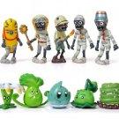 10pcs/lot 3-8cm PVZ Plants vs Zombies 2 It's About Time Plant and Zombies Figures Toys