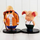 2pcs/lot Anime Dragon Ball Z Figure Toy Master Roshi Oolong Turtle Hermit Kamesennin