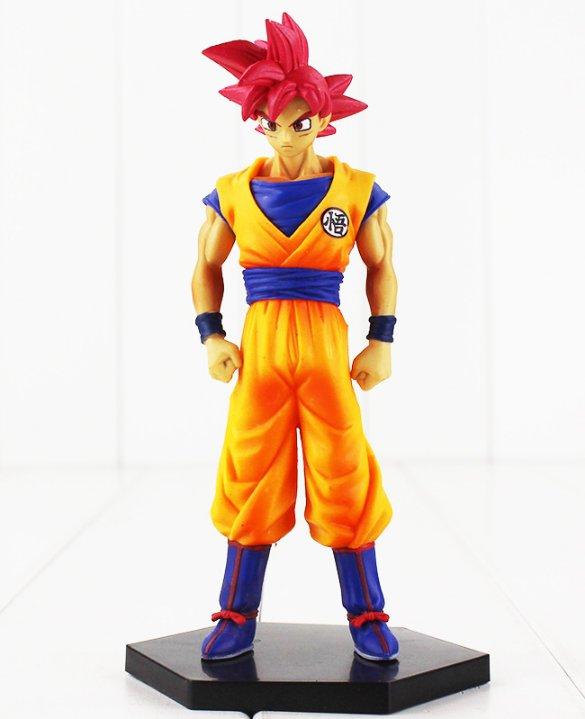 16cm Anime Dragon Ball Z Goku Figure Toy Super Saiyan God Son Gokou