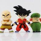 3pcs/set 8-12cm Cute Dragon Ball Son Goku Kuririn Oolong PVC Action Figure
