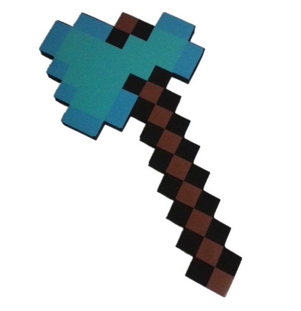 Minecraft Toys Foam Diamond Axe EVA Toys