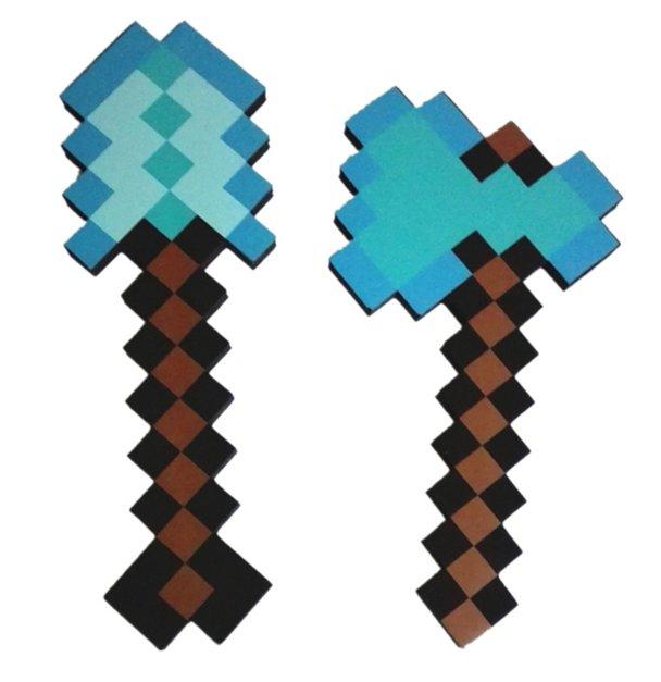 Minecraft Toys Foam Diamond Axe and Shovel EVA Toys
