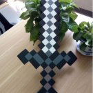 60cm Minecraft Toys Minecraft Sword EVA Model Toys Action Figures Toys (Black)
