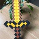 60cm Minecraft Toys Minecraft Sword EVA Model Toys Action Figures Toys (Yellow)