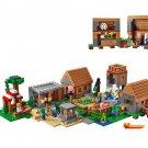 LEPIN 1673pcs My World The Village Minecraft Model building kits blocks Educational anime