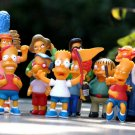 5-15cm 14pcs/lot Homer Marge Bart Lisa Maggie Family Collection Figures Toy