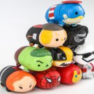 Cute 10pcs/lot Tsum Figurine Captain America Ironman Spider-man Thor Black Widow PVC