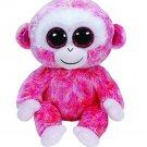 Original Ty Beanie Boos Big Eyes Plush Toy Doll Pink Monkey TY Baby Kids Gift