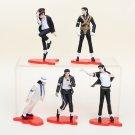 Michael Jackson Dance Styling Dolls Model PVC Action Figures Collection Toys 5pcs/set