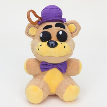 14cm Five Nights At Freddy's Nightmare Fredbear Plush pendant doll toys plush & stuffed keychain