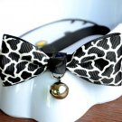 Safety Dog Cat Pet Collar Cute Bow Tie Dog Collars With Bell Puppy Kitten Necktie White Leopard