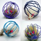 Fun Toys False Mouse in Rat Cage Ball For Pet Cat Kitten Play Toy Mouse Best Gift