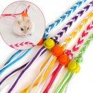 1pcs Pet Adjustable Rope Hamster Rat Mouse Harness Ferret Finder Bell dual-use Leash Lead