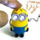 LED light up toys Cartoon Minions A1 keychain with sound Funny toy