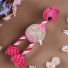 Pet Dog Toys Bird Duck Shape Plush Puppy Cat Squeaker Toys (Pink)