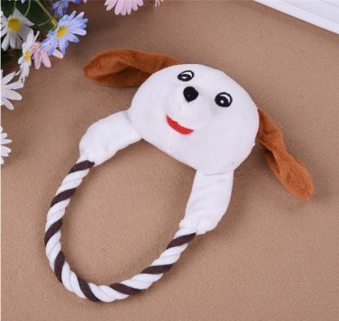 Dog Cat Toys Pets Puppy Interactive Plush Chew Squeaker Sound Toy (STD)