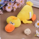 Pet Puppy Dog Toys Plush Duck Shaped Sound Squeaker Chewing Toys (Yellơ)