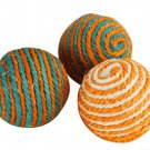 Funny Cat Kitten Sisal Rope Weave Ball Teaser Play Chewing Scratch Catch Toys