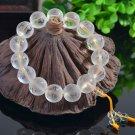 Natural Forsted Stone Healing Balance Clear Crystal Bracelet Pray Mala Bracelet
