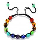 Hand Woven Healing Balance Bracelet Natural Stone 7 Chakra Stone Bracelet (13)