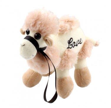 30cm Novel soft Pink animal character companion Camel short plush stuffed toy