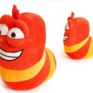 20cm Red Larvar Fun Insect Slug Creative Larva Plush Toys Stuffed Doll