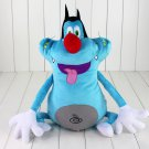 40cm French Cartoon Oggy and the Cockroaches Plush Toy Fat Cat Oggy Stuffed Animal