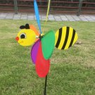 Cute 3D Large Animal Bee Windmill Wind Spinner Whirligig Yard Garden Decor Foldable